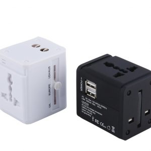 2USB Universal Travel Adaptor