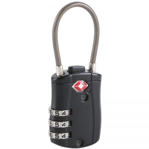 Cable 3-Dial Combination TSA Lock